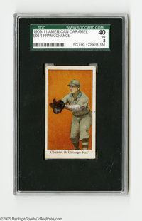 1909-11 American Caramel E90-1 Frank Chance SGC VG 40. Strong VG specimen from this early candy issue