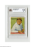 Baseball Cards:Singles (1930-1939), 1933 Goudey Babe Ruth #181 BVG Fair 1.5. Strong representation fromthis Big Three set....