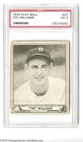 Baseball Cards:Singles (1940-1949), 1940 Play Ball Ted Williams #27 PSA VG 3. Fine example from thispopular set....