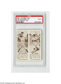 Baseball Cards:Singles (1940-1949), 1941 Double Play Ted Williams-81 Joe Cronin-82 PSA EX 5. The Hallof Fame Red Sox teammates are side by side on this desirab...