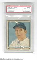 Baseball Cards:Singles (1940-1949), 1941 Play Ball Bill Dickey #70 PSA VG-EX 4. Fine example from thispopular set....