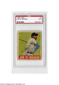 Baseball Cards:Singles (1940-1949), 1948 Leaf Joe DiMaggio #1 PSA VG 3. Strong example from thispopular set. First card in the set!...