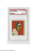 Baseball Cards:Singles (1940-1949), 1949 Bowman Vernon Bickford #1 PSA EX-MT 6. Strong example fromthis popular set. First card in the set!...
