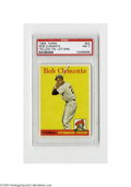 Baseball Cards:Singles (1950-1959), 1958 Topps Bob Clemente Yellow Tm. Letters #52 PSA NM 7. Strong NMspecimen from this popular issue....