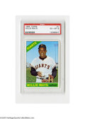 Baseball Cards:Singles (1960-1969), 1966 Topps Willie Mays #1 PSA EX-MT 6. Strong EX-MT specimen fromthis popular issue....