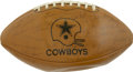 Football Collectibles:Balls, 1971 Dallas Cowboys Team Signed Football. The Lone Star State will long remember this powerhouse team, which claimed a deci...
