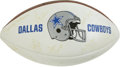 Football Collectibles:Balls, 1993 Dallas Cowboys Team Signed Football. Driven by a trio of Hall of Fame caliber players, the Dallas Cowboys of the early...