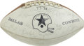 Football Collectibles:Balls, 1977 Dallas Cowboys Team Signed Football. Tom Landry's Dallas Cowboys of the late-1970s shared tops of the NFL along with t...