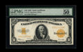 Large Size:Gold Certificates, Fr. 1173 $10 1922 Gold Certificate PMG About Uncirculated 50 EPQ....