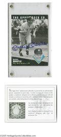 Autographs:Sports Cards, Mickey Mantle Signed Upper Deck Card. Card and blue sharpieautograph are Mint. LOA from Steve Grad & Zach Rullo/ PSADNA...