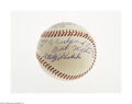 Autographs:Baseballs, Early 1970's Stanley Coveleski Single Signed Baseball from The Ricky and Bruce Collection. Flawless 10/10 inscription on th...