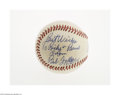 Autographs:Baseballs, 1975 Bob Feller Single Signed Baseball from The Ricky and BruceCollection. Flawless 10/10 inscription on the side panel of...