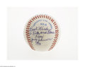 Autographs:Baseballs, 1981 Judy Johnson Single Signed Baseball from The Ricky and BruceCollection. Flawless 10/10 inscription on the side panel ...