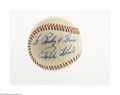 Autographs:Baseballs, 1970's Ralph Kiner Single Signed Baseball from The Ricky and BruceCollection. Strong 9/10 inscription on the side panel of...
