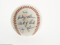 Autographs:Baseballs, 1970's Jim Palmer Single Signed Baseball from The Ricky and BruceCollection. Flawless 10/10 inscription on the side panel ...