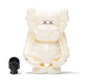 Fine Art - Sculpture, American:Contemporary (1950 to present), KAWS (b. 1974). Skull Kun (White), 2006. Painted cast vinyl.6-1/2 x 5-1/4 x 3-1/4 inches (16.5 x 13.3 x 8.3 cm) (toy bo...