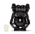 Fine Art - Sculpture, American:Contemporary (1950 to present), KAWS X Bounty Hunter. Skull Kun (Black), 2006. Painted castvinyl. 6-1/2 x 5-1/4 x 3-1/4 inches (16....
