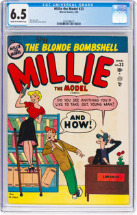 Millie the Model #33 (Atlas/Marvel, 1952) CGC FN+ 6.5 Cream to off-white pages