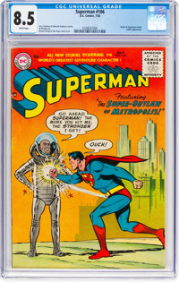 Superman #106 (DC, 1956) CGC VF+ 8.5 White pages