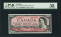 Canadian Currency, BC-36 $1000 1954 Devil's Face PMG About Uncirculated 55.. ...