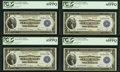 Fr. 727 $1 1918 Federal Reserve Bank Notes Cut Sheet of Four PCGS Gem New 65PPQ