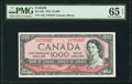 Canadian Currency, BC-44d $1000 1954 PMG Gem Uncirculated 65 EPQ.. ...