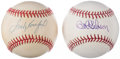 Autographs:Baseballs, Bob Gibson & Sandy Koufax Single Signed Baseball Lot of 2,PSA/DNA Graded. ... (Total: 2 items)