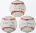 Autographs:Baseballs, Hall of Fame Pitcher Single Signed Baseball Lot of 3: Blyleven, Carlton, & Ryan - PSA/DNA MT 9 or Better.... (Total: 3 items)