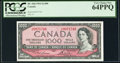 Canadian Currency, BC-44d $1000 1954 PCGS Very Choice New 64PPQ.. ...