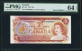 Canadian Currency, BC-47a $2 1974 Serial Number 1 PMG Choice Uncirculated 64 EPQ.. ...