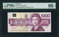 Canadian Currency, BC-61a $1000 1988 PMG Gem Uncirculated 66 EPQ.. ...