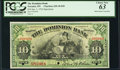 Canadian Currency, Toronto, ON- The Dominion Bank $10 3.1.1910 Ch. # 220-18-04sSpecimen PCGS Choice New 63.. ...