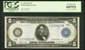 Large Size:Federal Reserve Notes, Fr. 862 $5 1914 Federal Reserve Note PCGS Extremely Fine 40PPQ.. ...