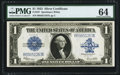 Large Size:Silver Certificates, Fr. 237 $1 1923 Silver Certificate PMG Choice Uncirculated 64.. ...