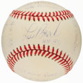 Autographs:Baseballs, Lou Brock Single Signed Stat Baseball with 15 Inscriptions, Limited Edition 0235/1000....