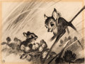Animation Art:Concept Art, Bambi Concept/Layout Drawing Original Art by Marc Davis(Walt Disney, 1942)....