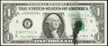 Error Notes:Ink Smears, Black Ink Smear Fr. 1907-E $1 1969D Federal Reserve Note. Choice About Uncirculated.. ...