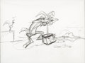 Animation Art:Production Drawing, Wile E. Coyote and Road Runner Sketch Original Art by Chuck Jones (Warner Brothers, c. 1980s-90s)....