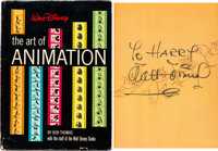 The Art of Animation First Edition Book Signed by Walt Disney (Golden Press, 1958)