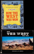 "Movie Posters:Western, How the West was Won (MGM, 1963). Fine/Very Fine. Hardbound Programs (2) (Multiple Pages, 8.5"" X 11"" & 12.25"" X 8.5"")..."
