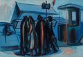 Paintings, Jean Helion (French/American, 1904-1987). L'attente bleue, 1966. Oil on canvas. 35 x 51 inches (88.9 x 129.5 cm). Signed...