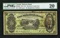 Canadian Currency, Montreal, PQ- Molsons Bank $10 3.1.1916 Ch. # 490-36-02 PMG VeryFine 20.. ...