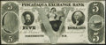 Obsoletes By State:New Hampshire, Portsmouth, NH- Piscataqua Exchange Bank $5 18__ Remainder Extremely Fine-About Uncirculated.. ...