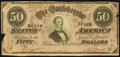 Confederate Notes:1864 Issues, T66 $50 1864 PF-2 Cr. 496 Atlanta, GA - R. D. Mann Advertising Note Fine.. ...
