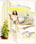 """Memorabilia:Science Fiction, Frank Frazetta Dow Elements Magazine Vol. 1, #3 Illustrated Science-Fiction Story """"Deina"""", Numbered Print, and Add... (Total: 7 Items)"""