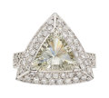 Estate Jewelry:Rings, Diamond, Platinum Ring The ring features a tri...