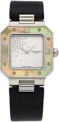 Estate Jewelry:Watches, Mauboussin Lady's Diamond, Mother-of-Pearl, Stainless Steel Amour Le Jour Se Lève Watch. ...