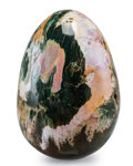 Lapidary Art:Eggs and Spheres, Ocean Jasper Egg. Madagascar. 9.06 x 6.30 inches (23.00 x 16.00cm). ...