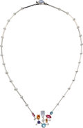 Estate Jewelry:Necklaces, Diamond, Multi-Stone, White Gold Necklace, Cartier . ...