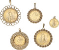 Estate Jewelry:Pendants and Lockets, US Gold Coin, Gold Pendants . ... (Total: 5 Items)